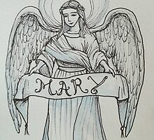 Angel with Holy Name of Mary by Gian