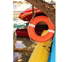 Kayaks At the Waters Edge Photographic Print