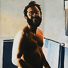 "Morning Shave - 1980 - oil on canvas - 18"" x 26"" by Dave Martsolf"