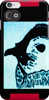 My drawing ov a penguin on a iphone 4 cover=] by Nataliee21
