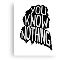 You know nothing, quote Canvas Print