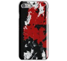 Black White Red Allover  IV iPhone Case/Skin