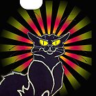 Le Chat Noir Poster iPhone Case by simpsonvisuals