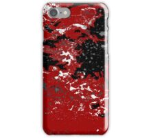 Black White Red Allover  VI iPhone Case/Skin