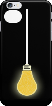 Lightbulb iPhone Case by simpsonvisuals