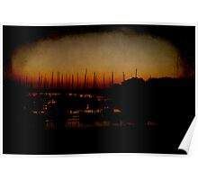 Yachts, Sunset Poster