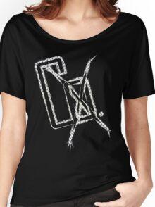 CoXtinkt Glitch out Logo T-shirt/Light Women's Relaxed Fit T-Shirt