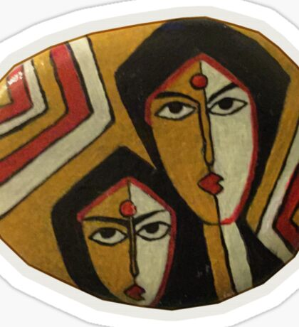 Tribal faces Sticker