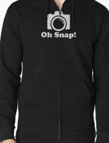 Oh Snap! Funny Photographer Zipped Hoodie