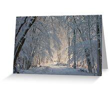 Snowy Trees Greeting Card