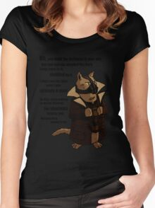Bane's Cat Rises! Women's Fitted Scoop T-Shirt