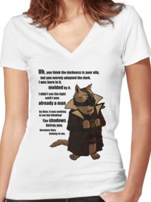 Bane's Cat Rises! Women's Fitted V-Neck T-Shirt