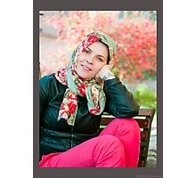 a girl Photographic Print