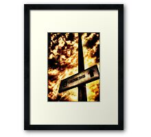 A Sign of Biblical Proportions Framed Print