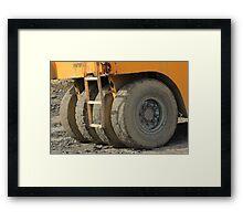 Wheels on Construction Equipment Framed Print