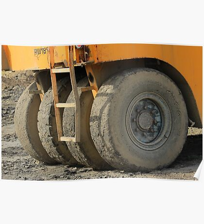 Wheels on Construction Equipment Poster