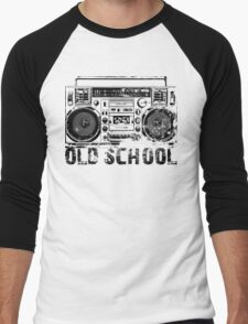 Old School Boombox Art Men's Baseball ¾ T-Shirt