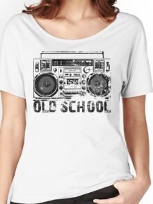 Old School Boombox Art Women's Relaxed Fit T-Shirt