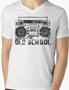 Old School Boombox Art Mens V-Neck T-Shirt