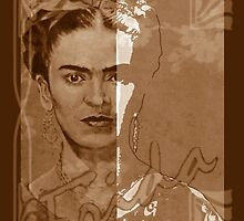 FRIDA - between worlds - sepia by ARTito