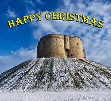 Christmas card: Clifford's Tower, York by GrahamCSmith
