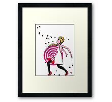 Help From The Rock Man Framed Print