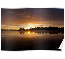 Lake Burley Griffin Sunrise Poster