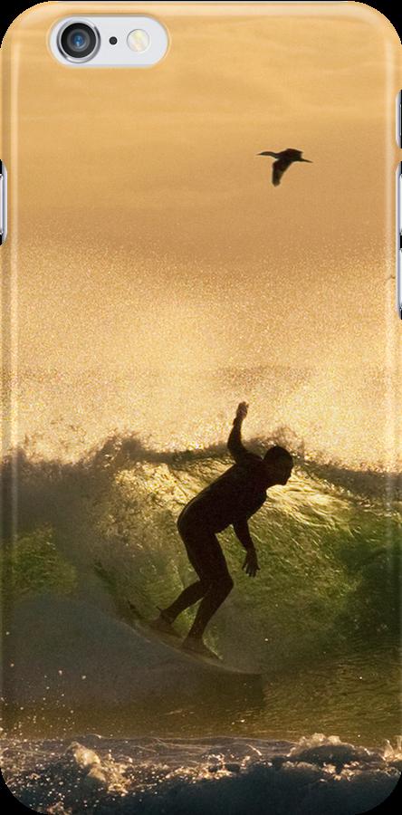 Golden Surf -  iPhone case by Odille Esmonde-Morgan