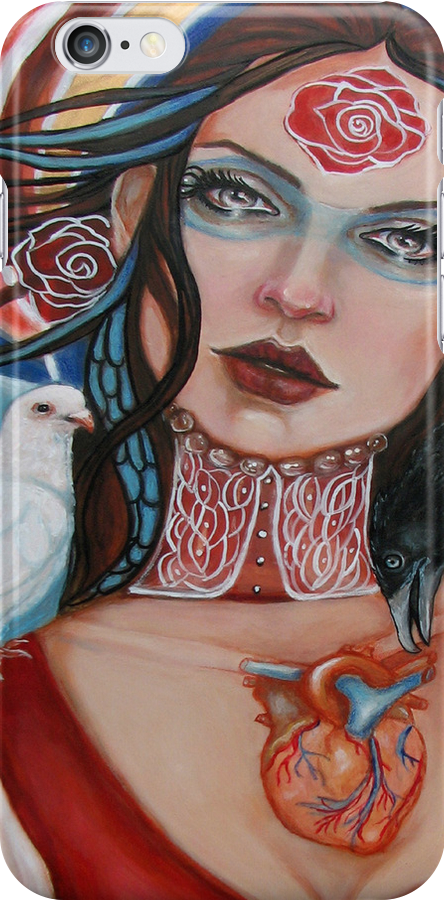 Mary, Queen of Sorrows i-phone case by MoonSpiral