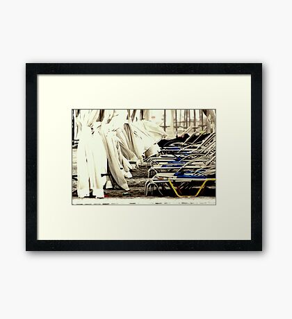 At the Beach  - JUSTART ©  Framed Print