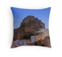 Dusk falls over Jodhpur Throw Pillow