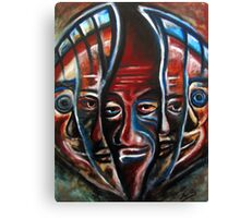 Faces. Oil on Sintra 18 x 28 Canvas Print