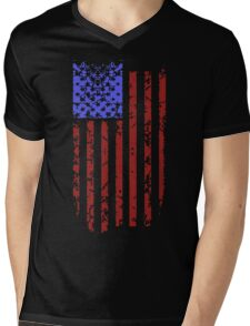 American Flag Mens V-Neck T-Shirt