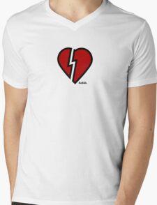 HRTBRKR Mens V-Neck T-Shirt