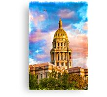 State Capitol at Sunset, Denver Colorado  Canvas Print