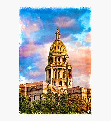 State Capitol at Sunset, Denver Colorado  Photographic Print