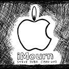 Steve Jobs Apple iMourn Sympathy Card by bubbleicious