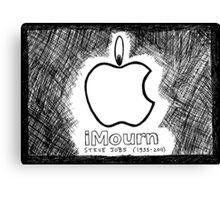 Steve Jobs Apple iMourn Sympathy Card Canvas Print