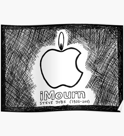 Steve Jobs Apple iMourn Sympathy Card Poster
