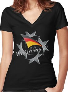 2014 Weltmeister (Germany) Women's Fitted V-Neck T-Shirt