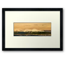 Another Golden Surf Moment Framed Print