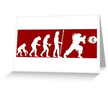 Street Figher Evolution Greeting Card