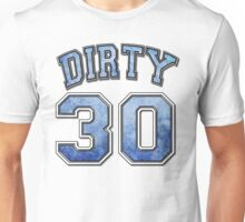 Dirty 30 blue distressed Unisex T-Shirt