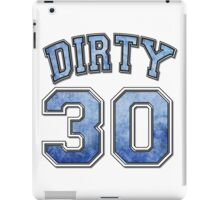 Dirty 30 blue distressed iPad Case/Skin