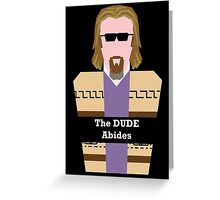 "Jeff ""the Dude"" Lebowski Greeting Card"