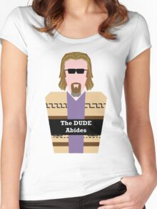 "Jeff ""the Dude"" Lebowski Women's Fitted Scoop T-Shirt"