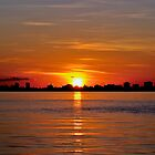 Miami Sunrise Case Art for iPhone by njordphoto