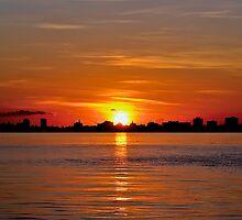 Miami Sunrise Case Art for iPhone by njordphoto