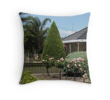Alice in Suburbia Throw Pillow