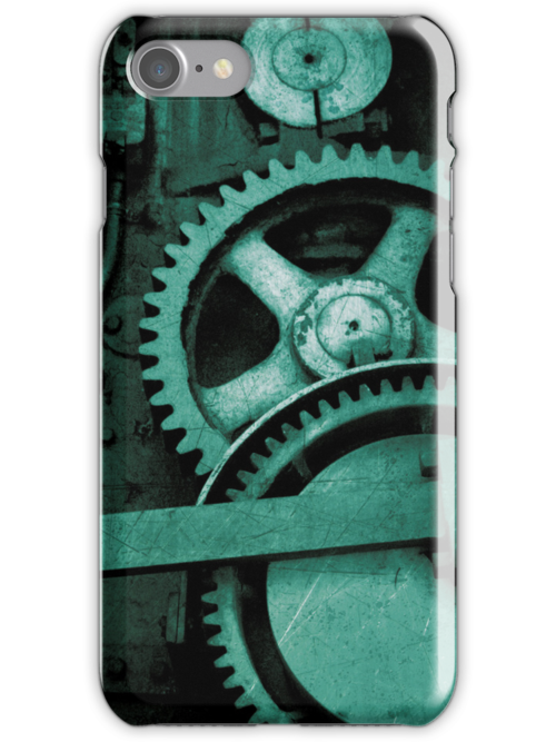 iPhone Case - Bolts and Rivets (Green) by Christopher Herrfurth